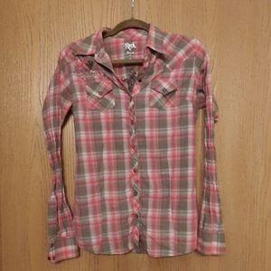 Wrangler Rock 47 Snap Button Medium Western Shirt